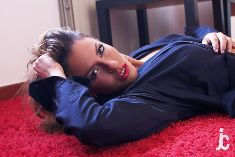 Fotografiando a Melanie 1