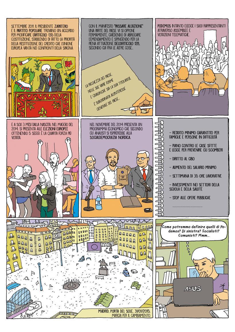 Cómic periodistico sobre la situación política social española, de la crísis a las segundas elecciones del 26 J 0