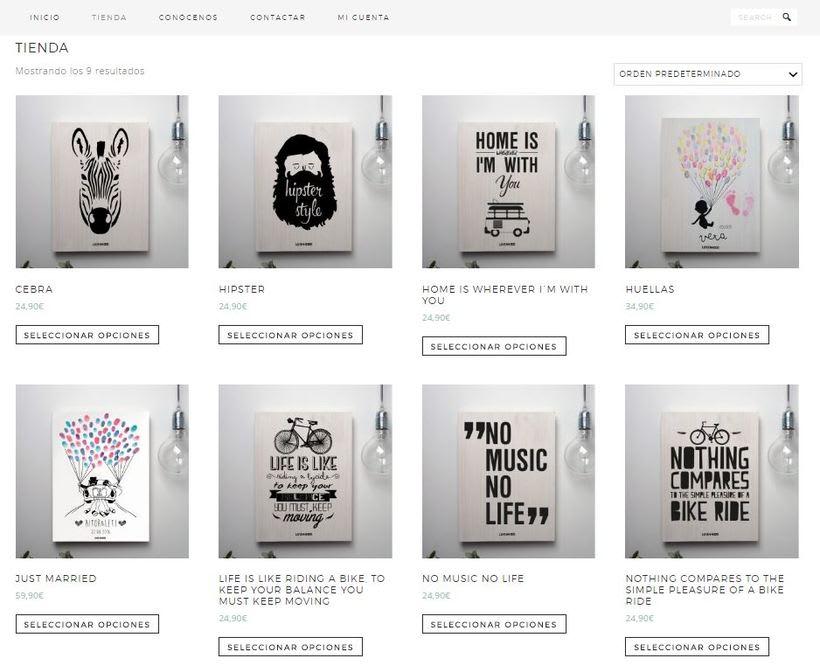 lovewood.es, mi tienda online de cuadros de serigrafía sobre madera. 0