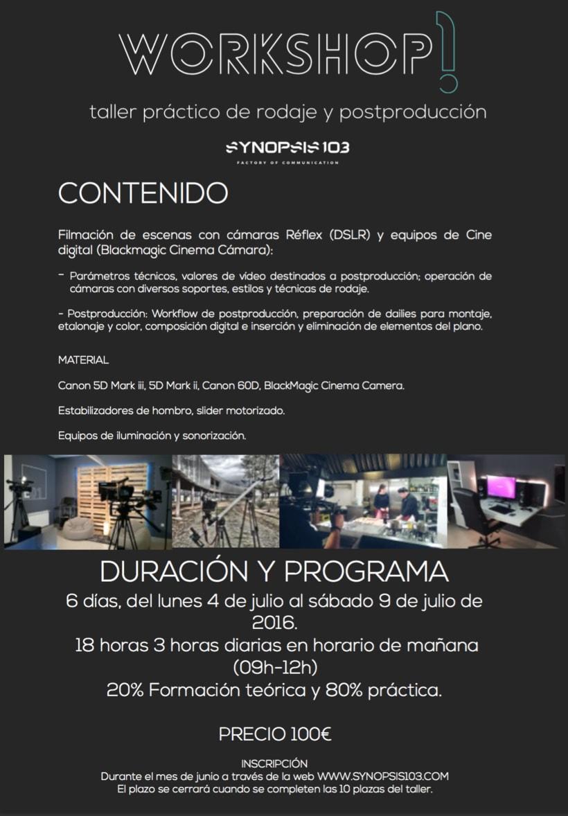 Workshop: Taller de rodaje y postproducción  1