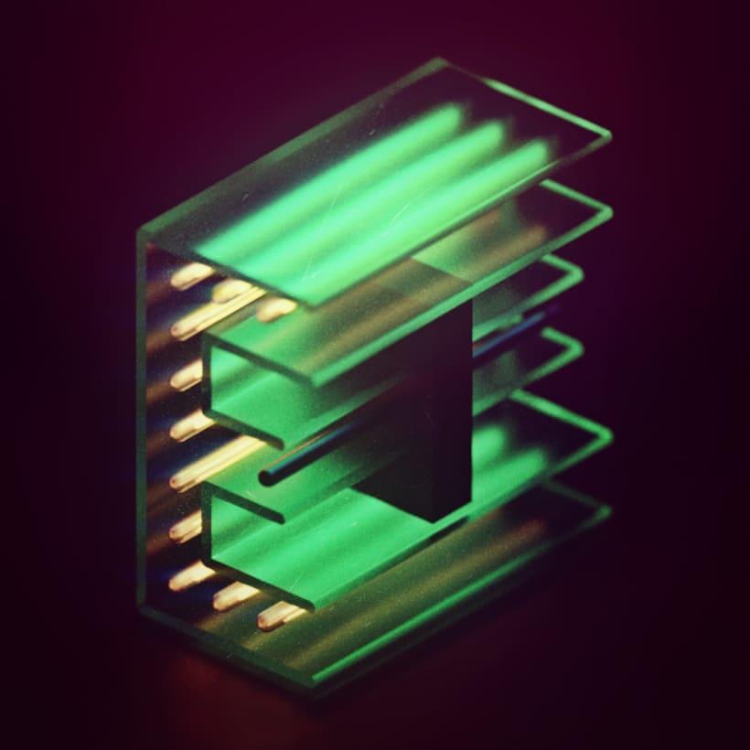 Mi Proyecto del curso: Lettering 3D: modelado y texturizado con Cinema 4D -1
