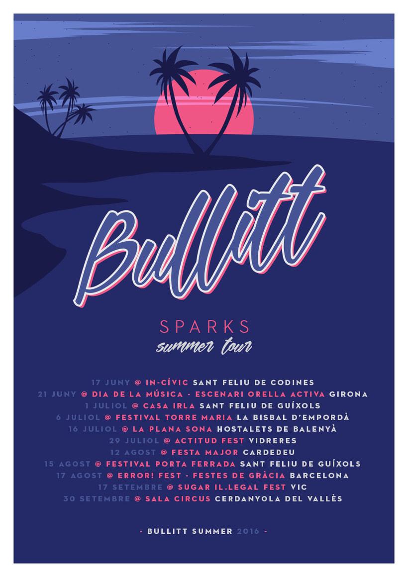 Cartel BULLITT SUMMER TOUR 2016 -1
