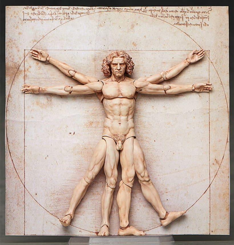 Figura de acción de El Hombre de Vitruvio 0