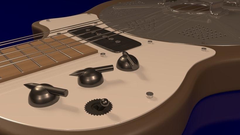 Resoelectric Revolver. Diseño Maya. Render Mental Ray. 2