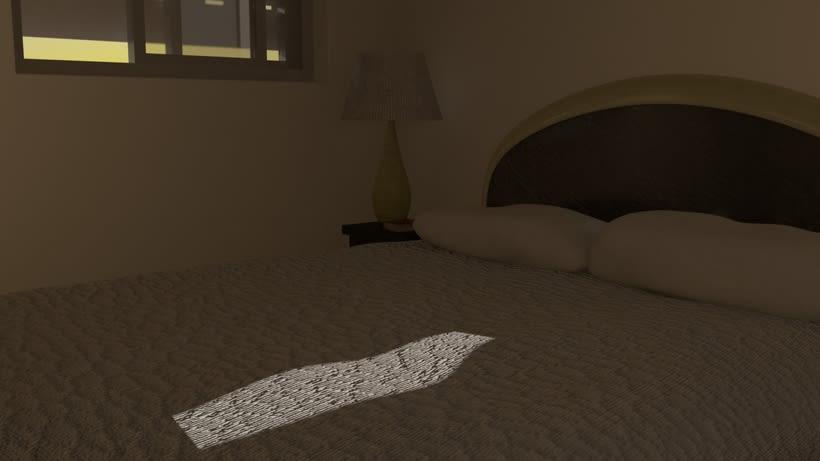 Habitacion. Diseño Maya. Render Mental Ray. 3