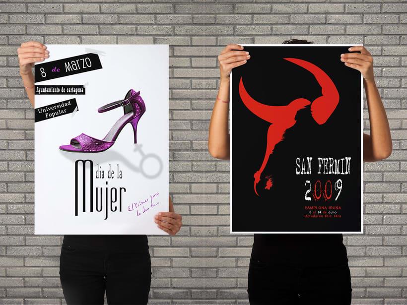Woman's day & San Fermin Poster design. -1