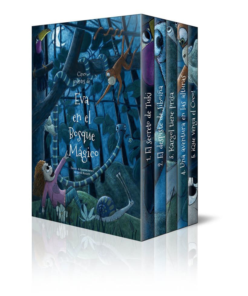 Colección cuentos infantiles Eva en el Bosque Mágico, 5 libros en caja  2
