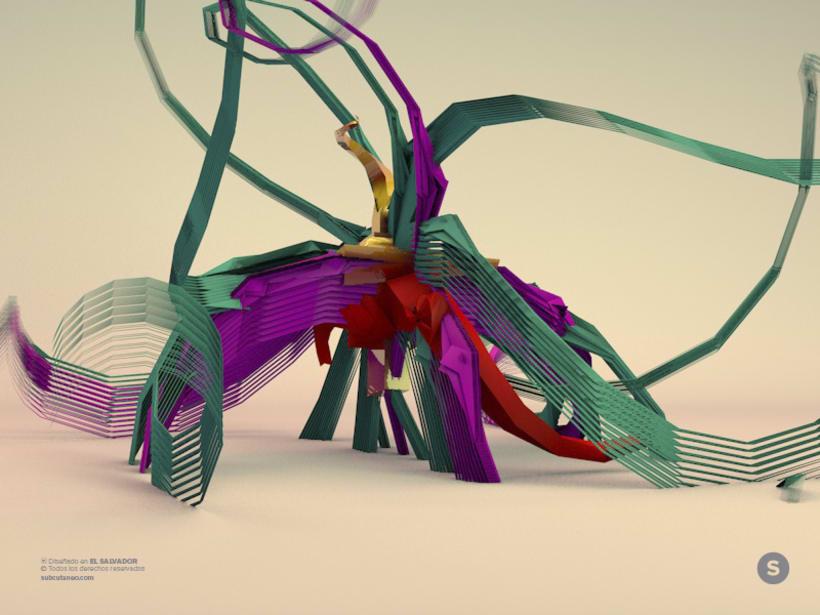 3D Geometric Swan -1