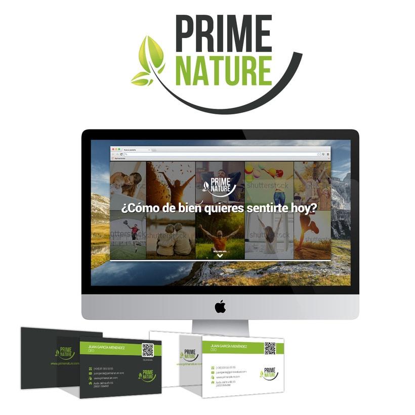 Prime Nature. Diseño imagen corporativa y web 0