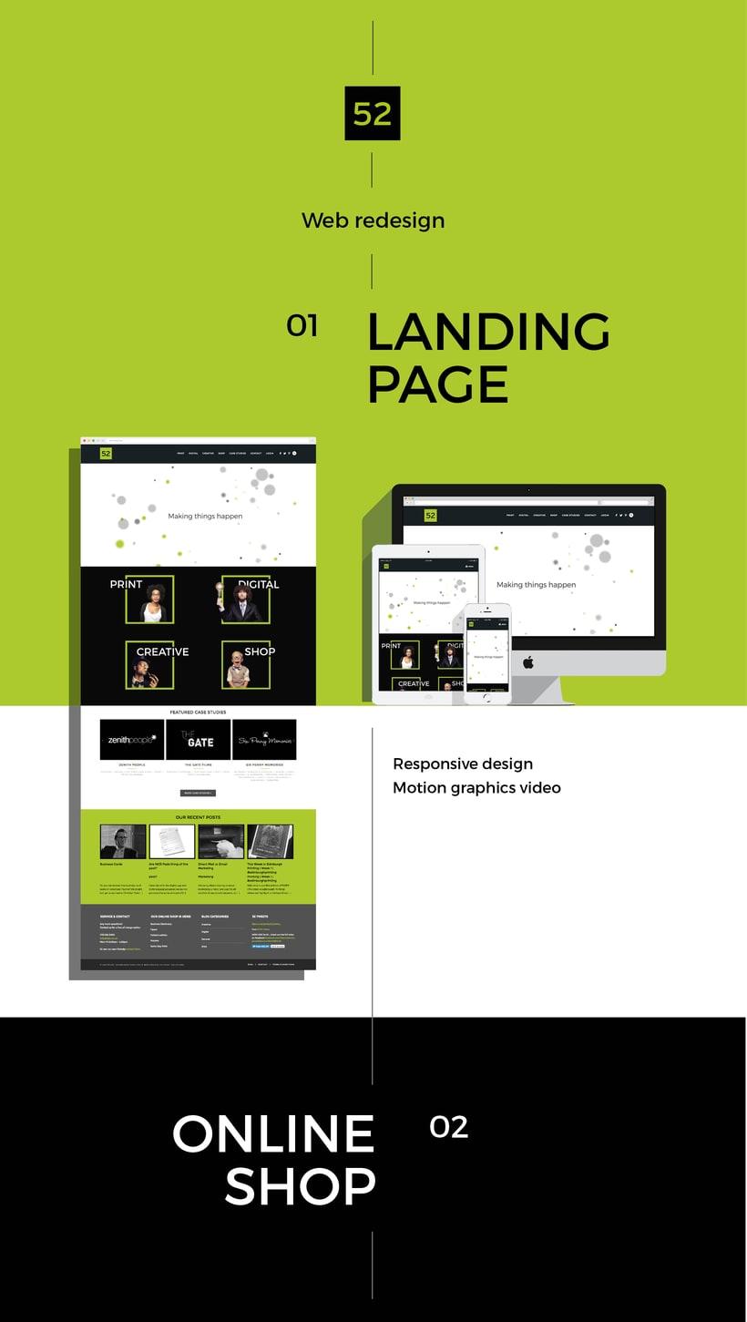 52 Print Solutions, diseño web 0