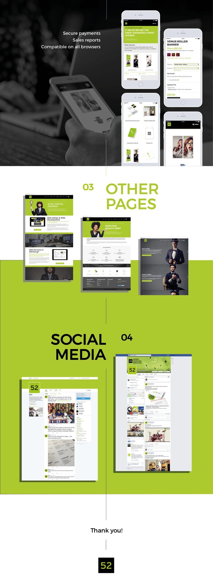 52 Print Solutions, diseño web 1