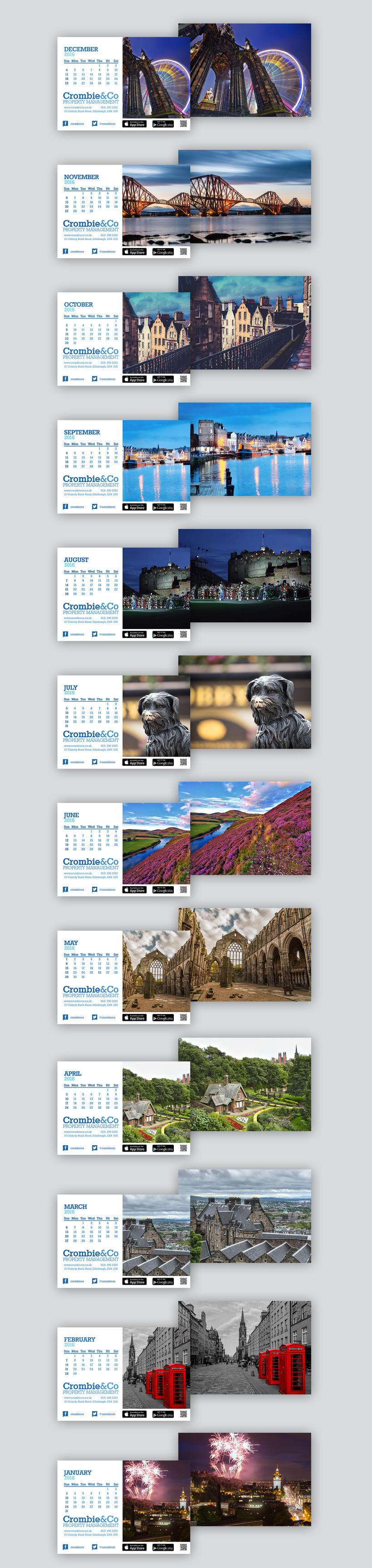 Crombie & Co, diseño de calendarios -1
