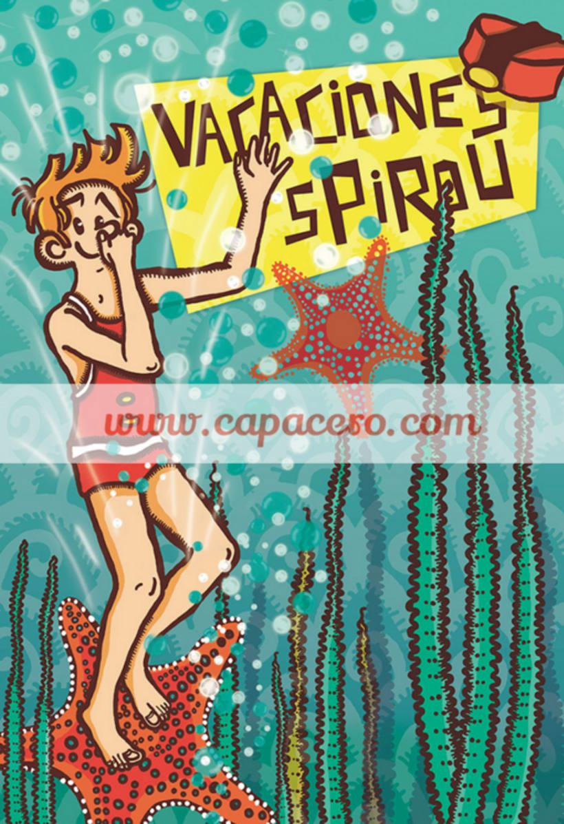 Spirou: 77 aniversario. Mi ilustración para la exposición colectiva Cádiz 2
