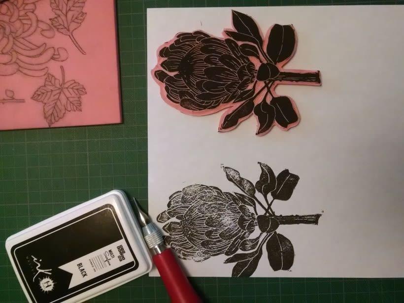 Experimentando con Carvado de Sellos por Anna López Real 2