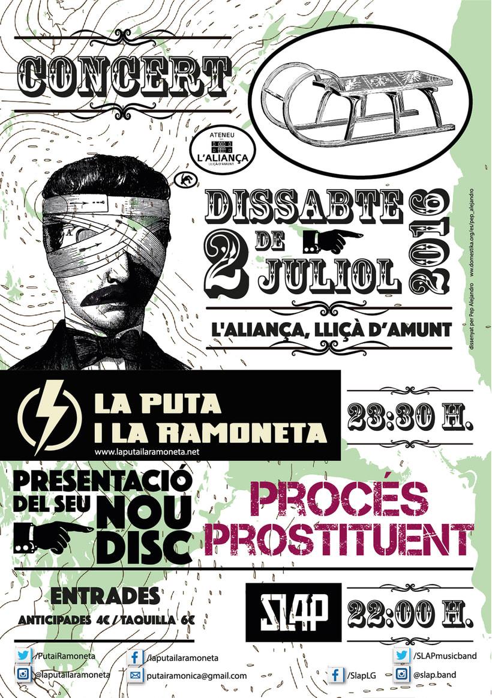 """Cartel Presentación del nuevo disco de """"LA PUTA I LA RAMONETA"""" -1"""