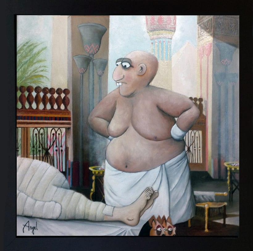 El embalsamador (Óleo sobre lienzo) 1