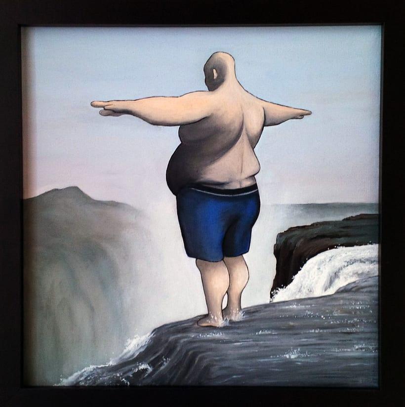 El salto del Ángel (Óleo sobre lienzo) -1