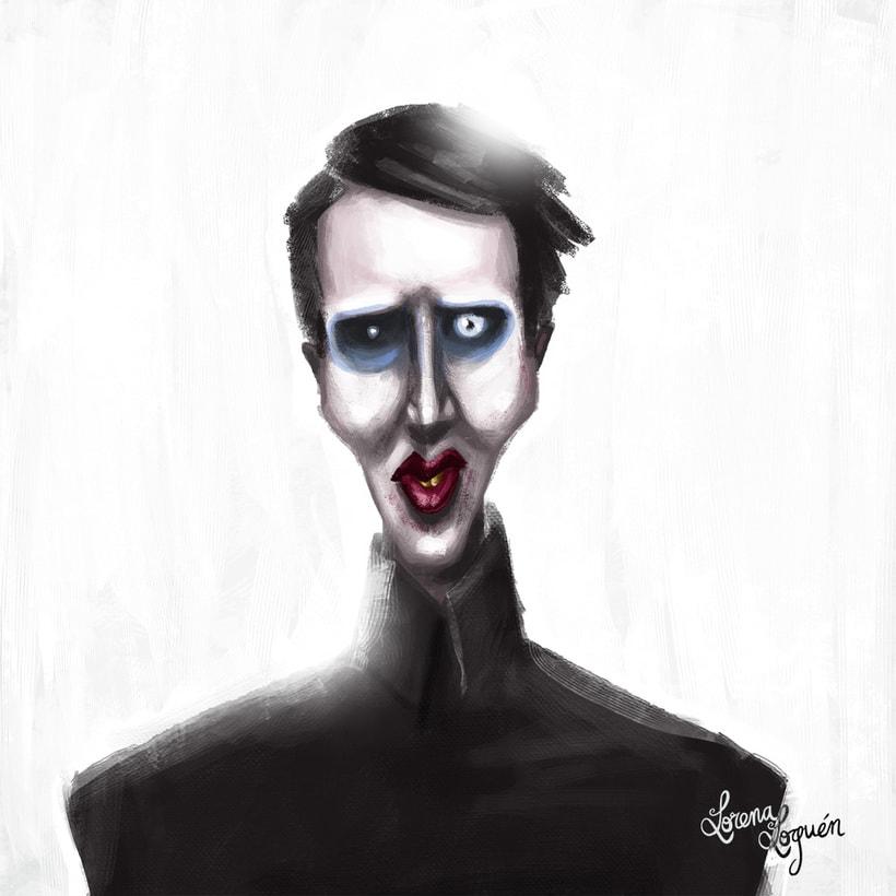 Cartooning Marlilyn Manson 0