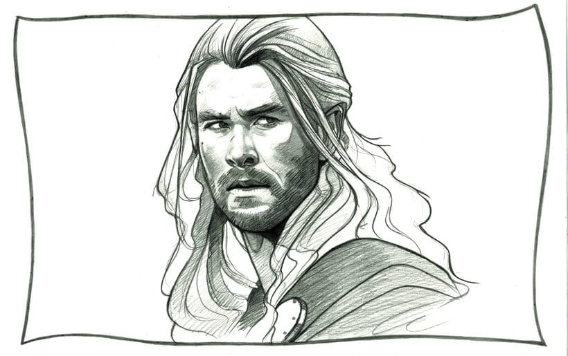 Thor Drawing / Dibujo de Thor 0