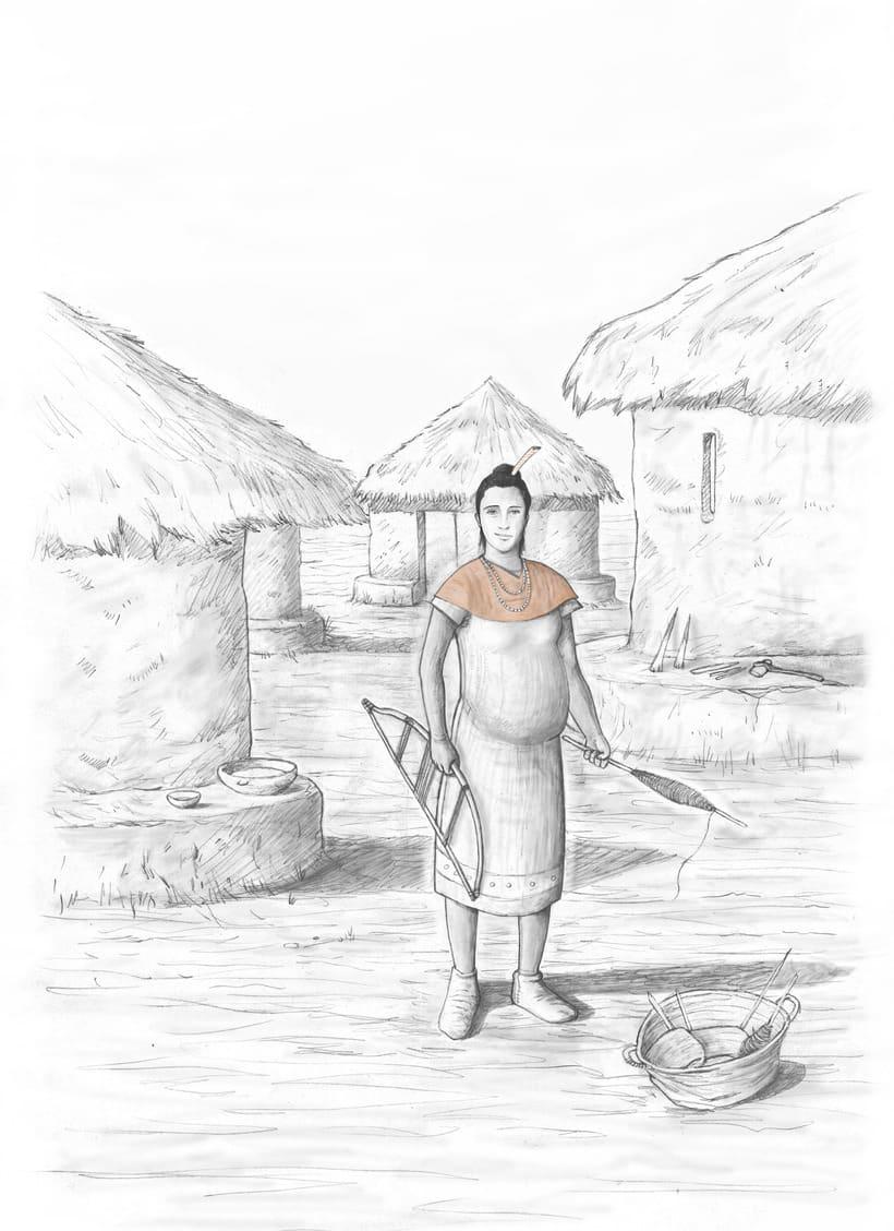 Recreaciones Fase Calcolítica. Lorca . III Milenio a.C. 1
