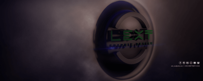 Isologo 3D Lext Graphic Design 0