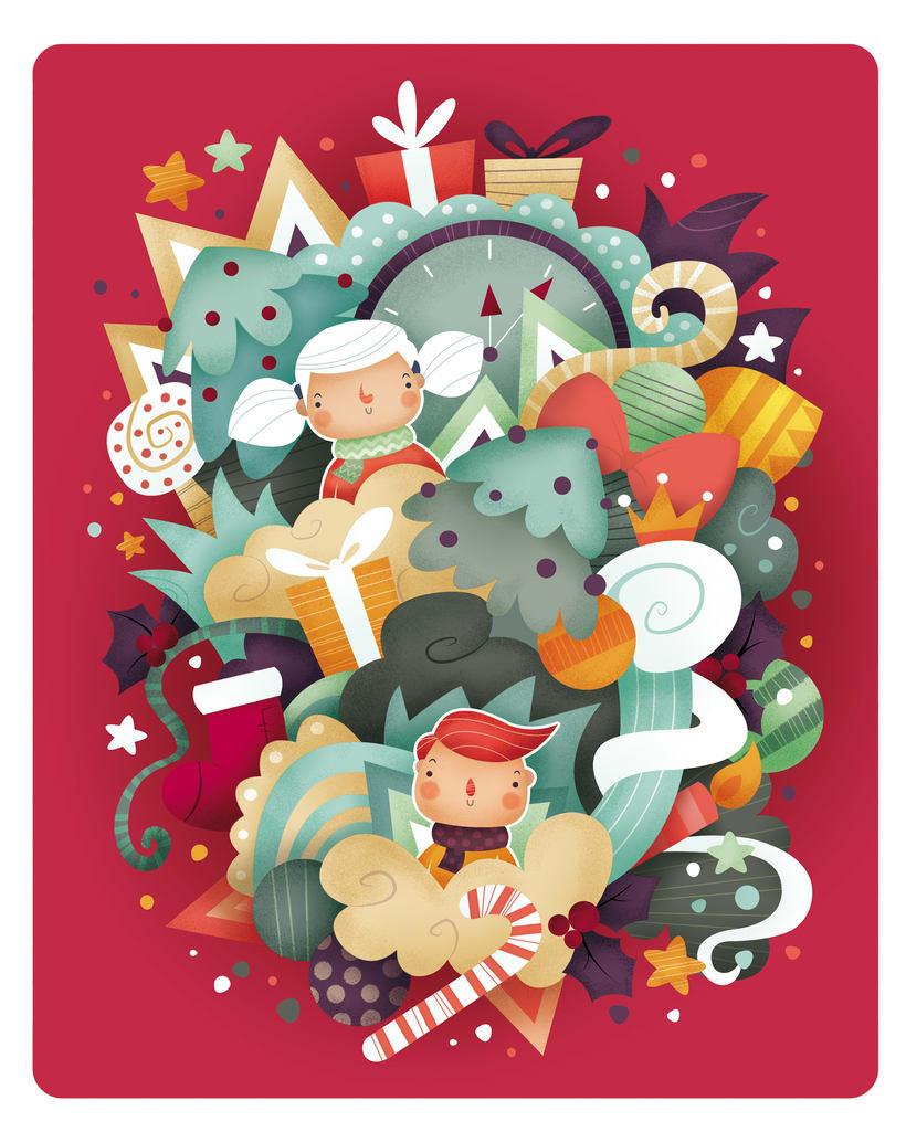 Dulce Navidad. Ilustración infantil 2