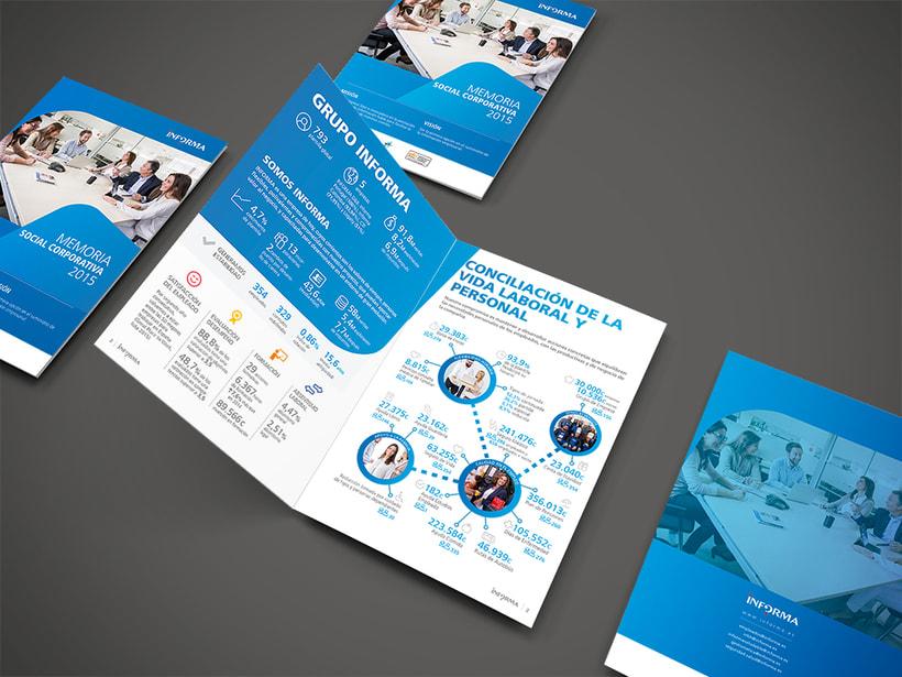 Memoria Social Corporativa Informa 2015. Diseño de Arte y maquetación. Cierre de Arte final -1