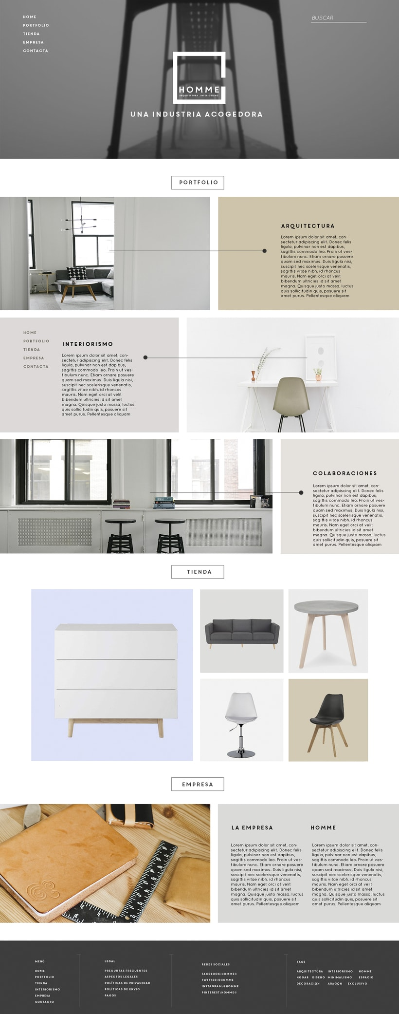 HOMME arquitectura e interiorismo© web. 0
