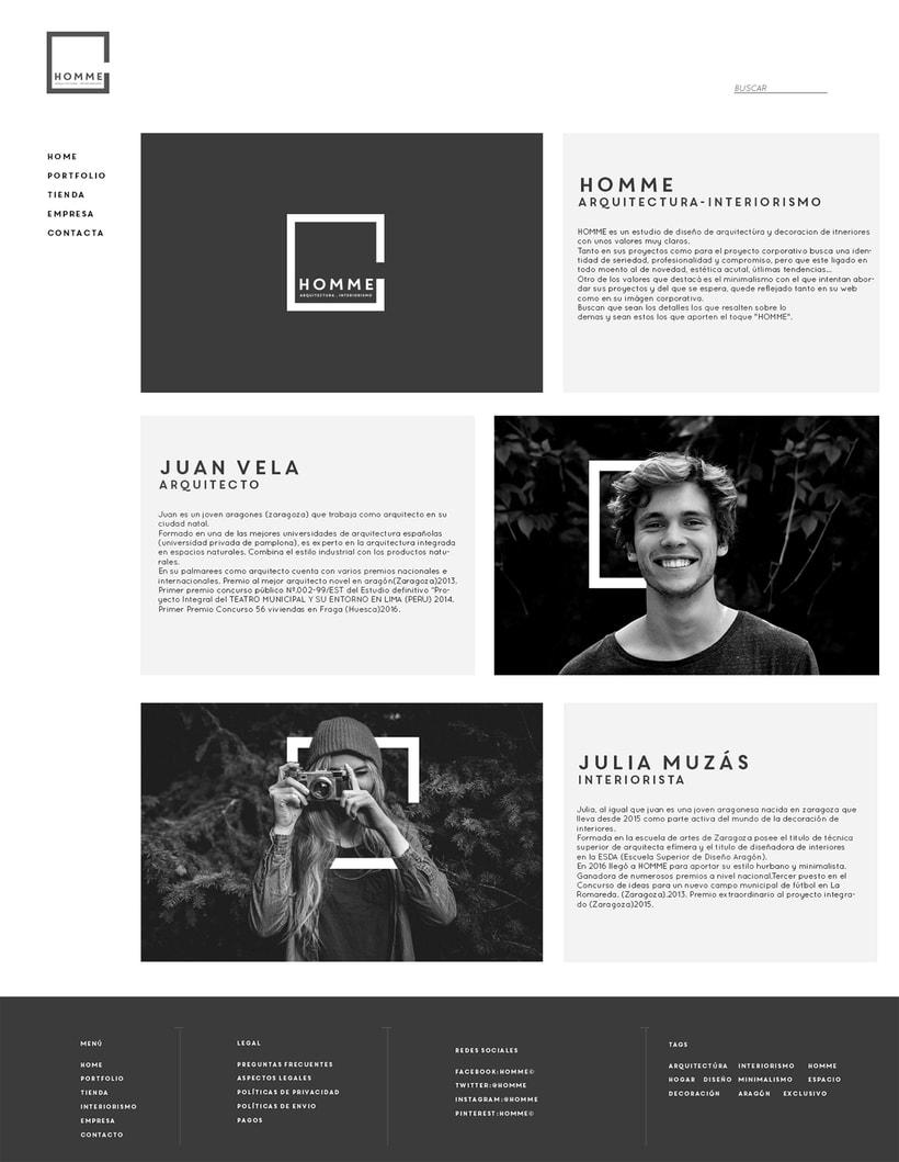 HOMME arquitectura e interiorismo© web. 2