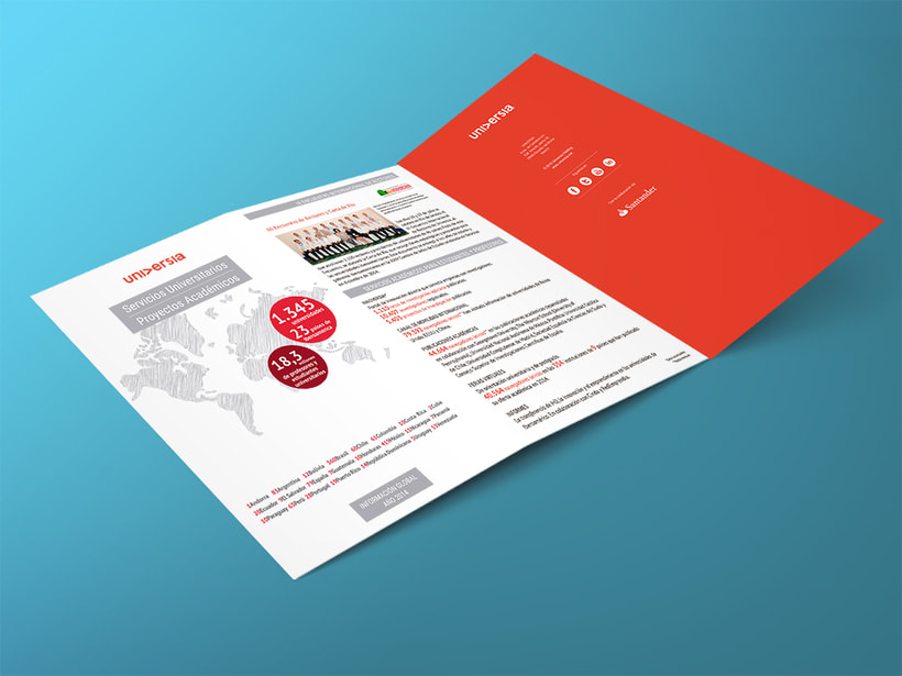 Tríptico Corporativo Cifras Universia 2014. Diseño arte y maquetación. Cierre arte final -1