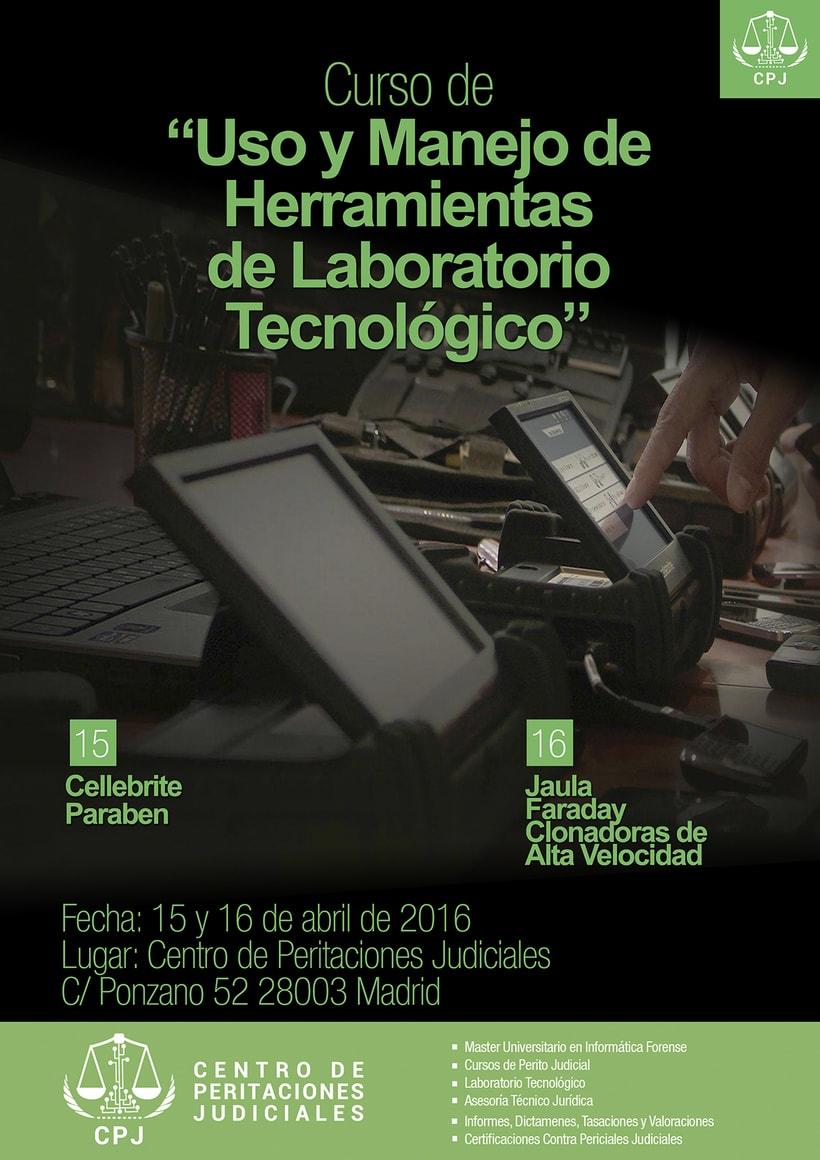 Carteles Cursos Centro de Formación de Peritaciones Judiciales -1