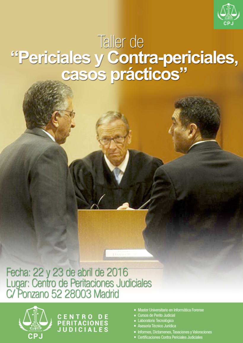 Carteles Cursos Centro de Formación de Peritaciones Judiciales 1