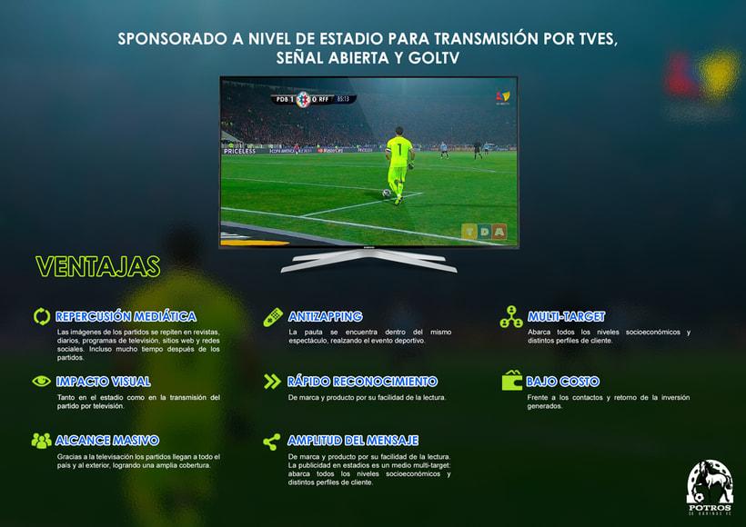 Brochure para Sponsorships del equipo FC Potros de Barinas 5