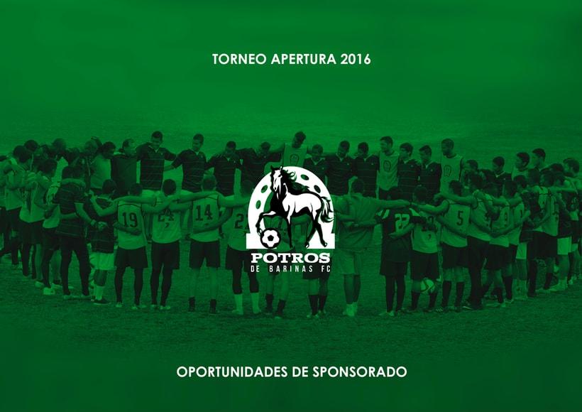 Brochure para Sponsorships del equipo FC Potros de Barinas 0
