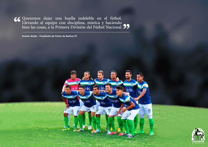 Brochure para Sponsorships del equipo FC Potros de Barinas 1