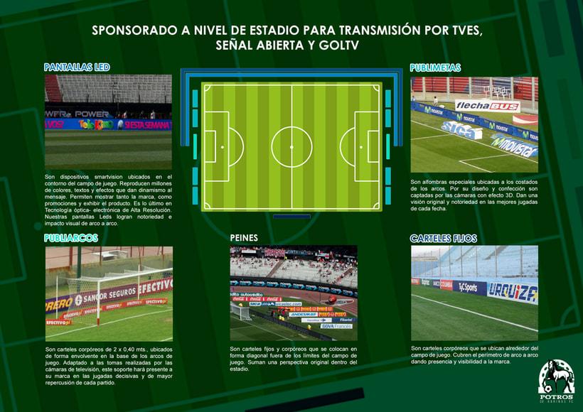 Brochure para Sponsorships del equipo FC Potros de Barinas 6