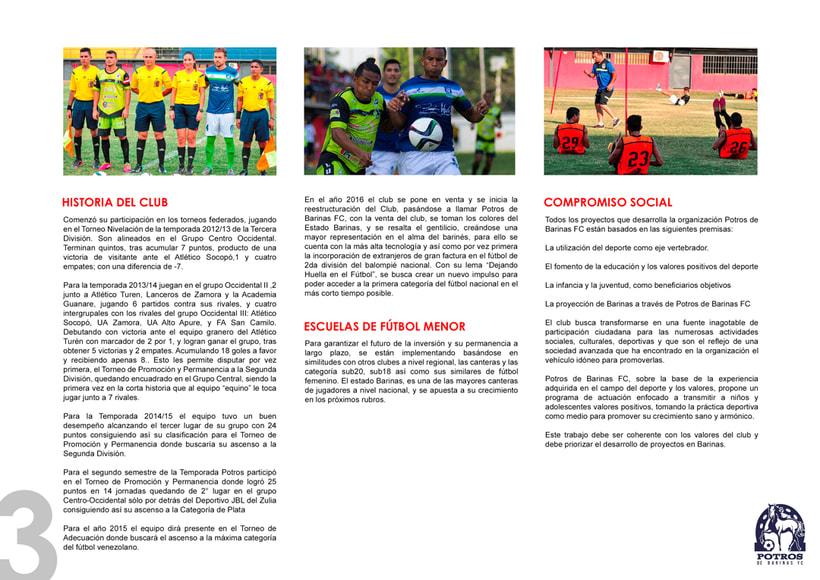 Brochure para Sponsorships del equipo FC Potros de Barinas 2