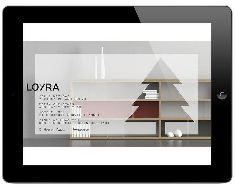 Felicitación de Navidad Loyra Mobiliario 1