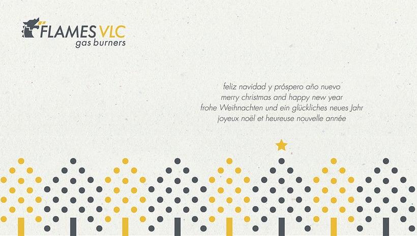 Felicitación de Navidad Flames VLC 0