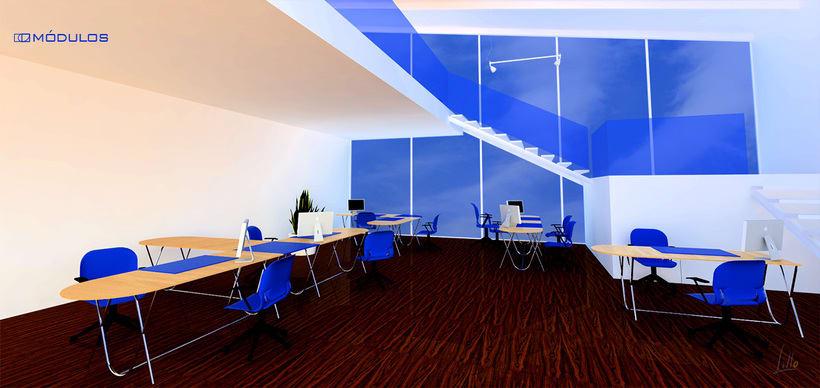 mesa de oficina MÓDULOS 1