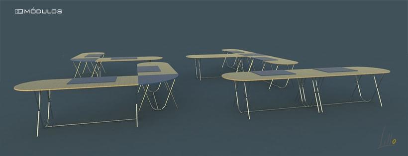 mesa de oficina MÓDULOS 0