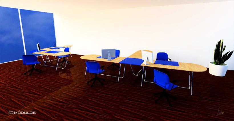 mesa de oficina MÓDULOS 3