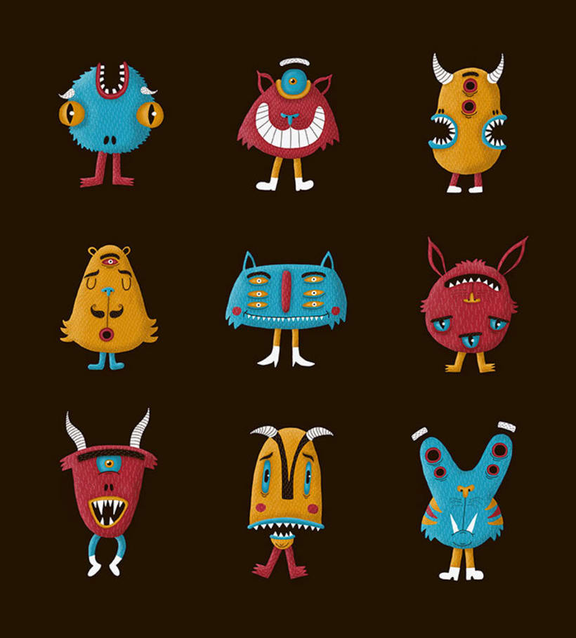 Digital monsters pattern 0
