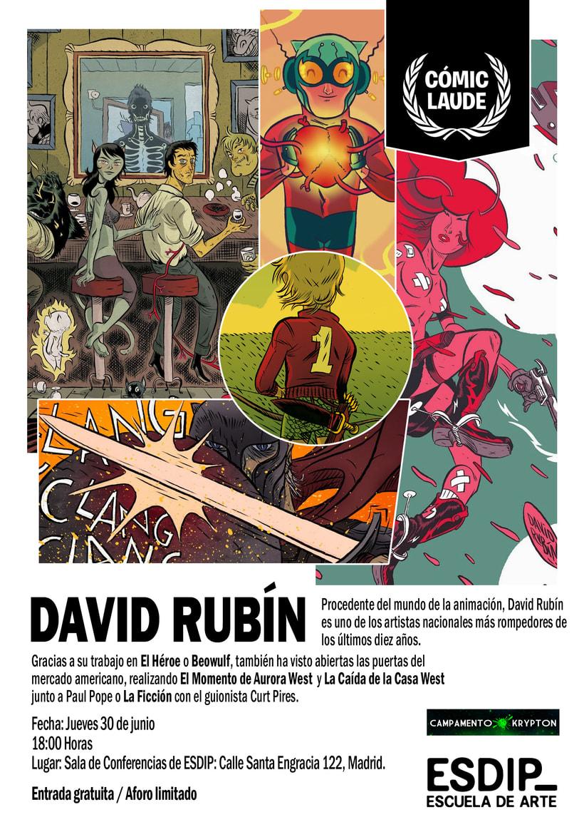 El dibujante de cómic DAVID RUBÍN dará una conferencia en ESDIP 0