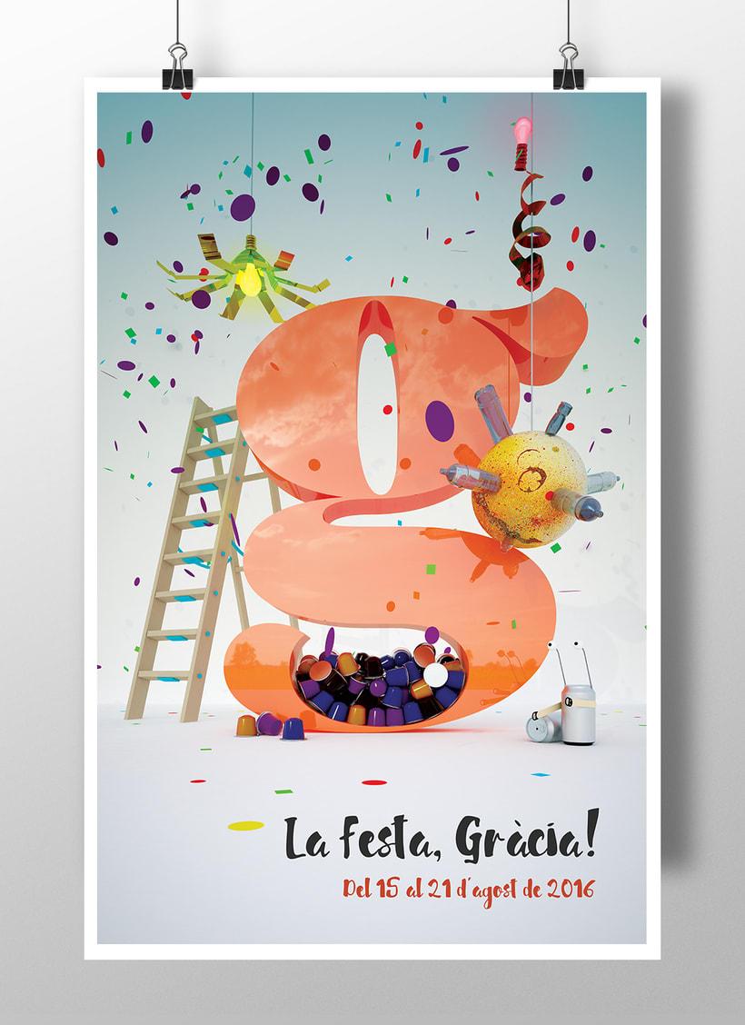 Gràcia // Participació al concurs de cartells Festa Major 2016 -1