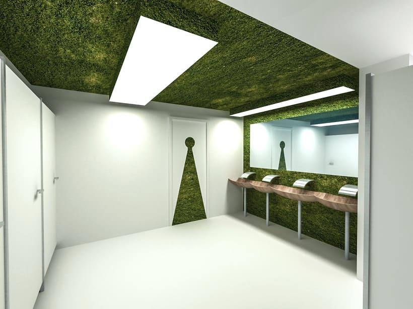 Park Restaurant _ Un parque, espacio plano, 2D, plegado sobre sí mismo, genera un espacio 3D. 7