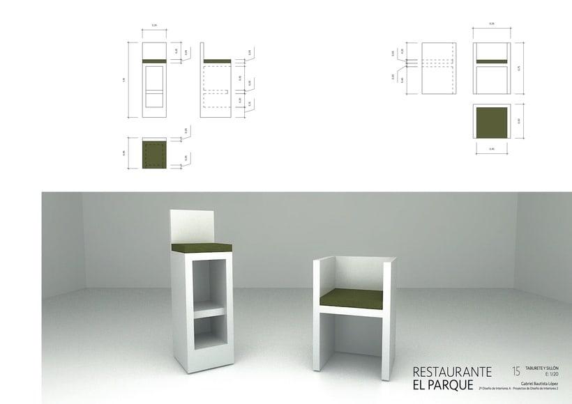 Park Restaurant _ Un parque, espacio plano, 2D, plegado sobre sí mismo, genera un espacio 3D. 8