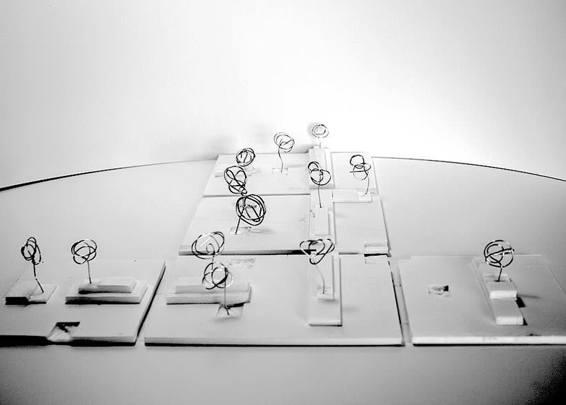 Park Restaurant _ Un parque, espacio plano, 2D, plegado sobre sí mismo, genera un espacio 3D. 0