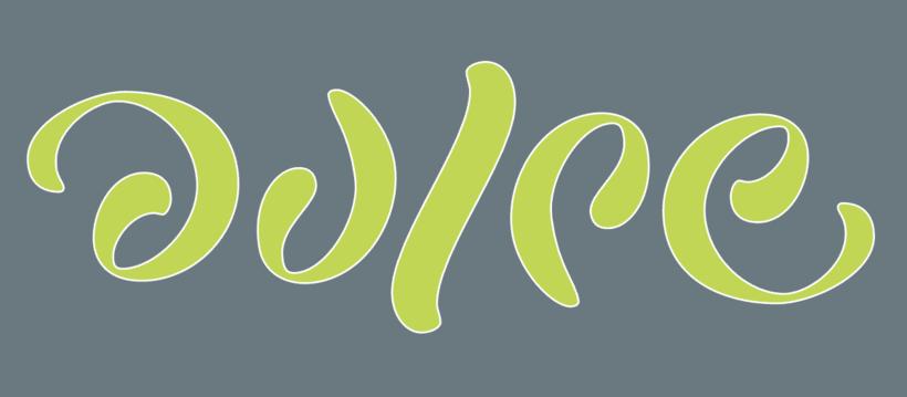 Lettering ambigrama de la palabra Dulce 0