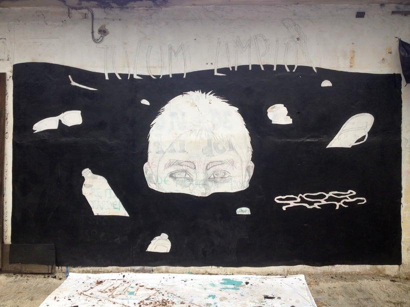 Tulum Limpio / Pintura Mural 1